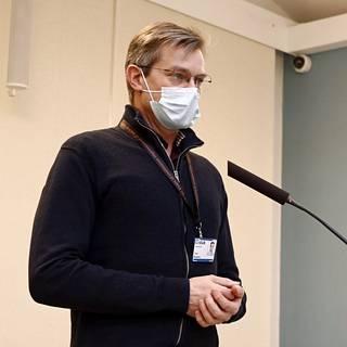 Säteilyturvakeskuksen (Stuk) apulaisjohtaja Tomi Routamo.