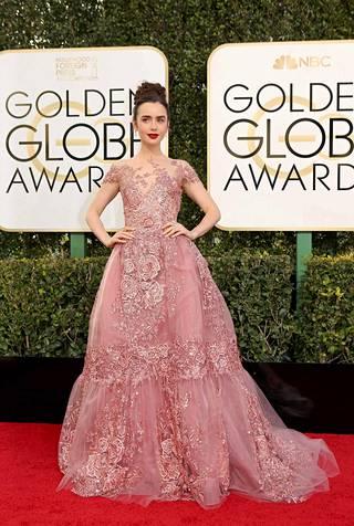 Näyttelijä Lily Collins.