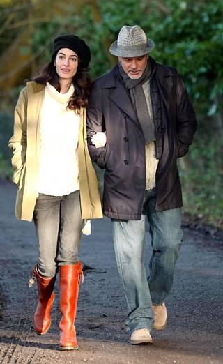 Clooneyt kuvattuna tammikuun 11. päivä.