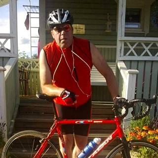 Juha Rantanen on innokas pyöräilijä.