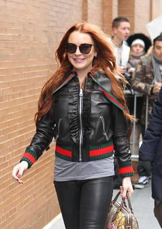 Lohan kuvattiin New Yorkissa helmikuussa.