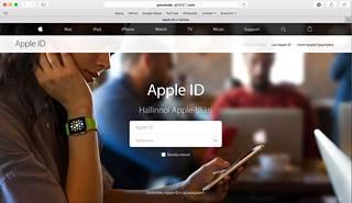 Huijaussivu muistuttaa erehdyttävästi aitoa Apple-sivua.