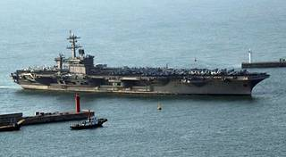 USS Carl Vinson osallistui sotaharjoituksiin Etelä-Korean kanssa maaliskuussa ja teki satamavierailun Busaniin.