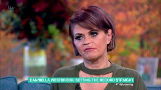 Danniella Westbrook kuvattuna marraskuussa brittien aamushow'ssa.