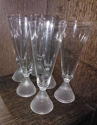 Eija löysi Tapio Wirkkalan Briljant-lasit edullisesti kirpputorilta.