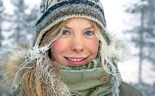 Tinja Myllykangas nauttii erityisesti talvesta. Silloin ilma on raikasta ja pakkanen piristää.