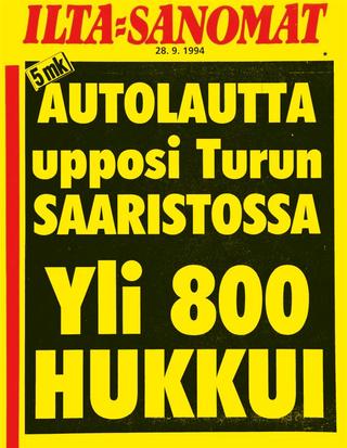 Ilta-Sanomat 28. syyskuuta 1994.