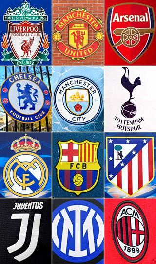 Vain kaksi on joukossa tuossa... Kaikki muut seurat paitsi Barcelona ja Real Madrid ovat suoraan tai kaarrellen ilmoittaneet vetäytyvänsä – tai aloittaneensa vetäytymisen – Superliigasta.