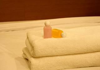 Saippuan saa viedä kotiinsa hotellista.