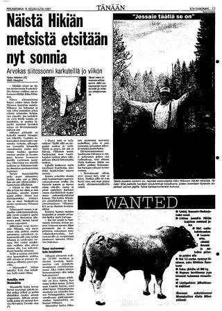 Koko kansan tuntema Liekki-sonni saatiin lopulta kiinni syksyllä syyskuun 9. päivä 1997.
