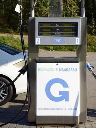 Gasum myy sekä maakaasua että vielä ympäristöystävällisempää biokaasua.