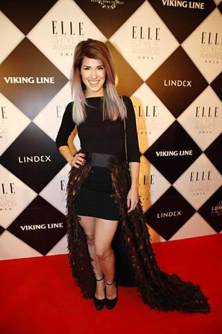 Jannika Elle Style Awardseissa lokakuussa 2016.