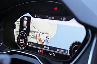 """Nyt myös Audi Q5 tarjoaa aiempaa kehittyneemmän navigoinnin, joka sisältää muun muassa """"yleisimmät reitit"""" -ominaisuuden."""