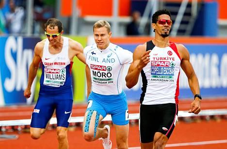 Oskari Mörö puristi Amsterdamin EM-kisoissa 2016 komeasti nelossijalle.