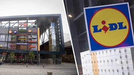 Välikohtaus sattui kauppakeskus Entressen Lidlissä.