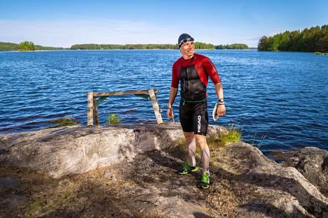 Teemu Lemmettylä tunnetaan myös kovakuntoisena triathlonistina.