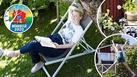 Veera Salmen mökki on siirtolapuutarhan pienimpiä. Huone ja veranta ovat yhteensä noin 25 neliötä.