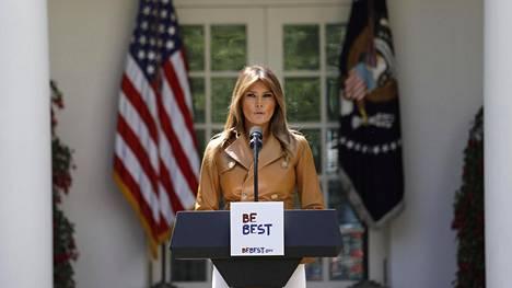 Melania Trumpin Be Best -kampanjan keskiössä ovat lapset ja sosiaalinen media.