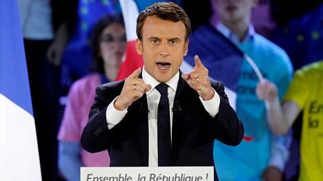 Emmanuel Macron oli mielipidemittausten kärjessä ennen viikonloppua.