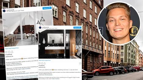 Myynnissä oleva asunto sijaitsee Helsingin Etu-Töölössä.