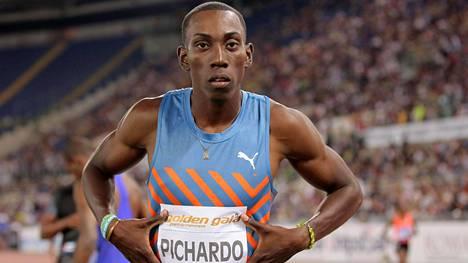 Kuubalainen korkeushyppääjä Pedro Pablo Pichardo kuvattuna Roomassa Timanttiliigan osakilpailussa 2015.