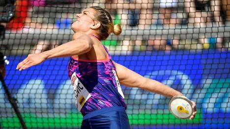 Sandra Perkovic on maailmanmestari ja kaksinkertainen olympiavoittaja.