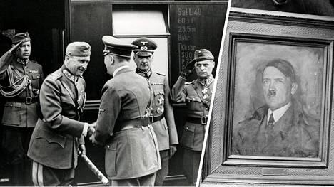 Marsalkka Mannerheimin entisen kotitalon vintillä Helsingin Kaivopuistosta löytyi Hitlerin vuonna 1942 lahjoittama maalaus.