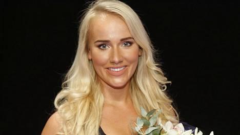 Elina Leskinen tuli Fitnessmalli 2017 -kilpailussa kolmanneksi.