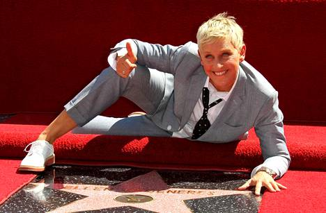 Ellen DeGeneres sai oman tähden Hollywood Walk of Famelle vuonna 2012.