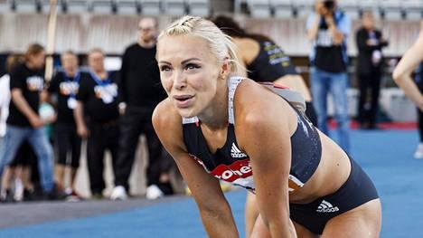 Annimari Korte juoksi taas voittoon naisten pika-aidoissa Lahden Motonet GP -osakilpailussa 15. heinäkuuta.
