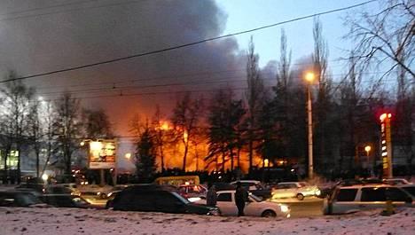 Ufan kaupungissa sijaitsevassa ostoskeskuksessa räjähti lauantaina.