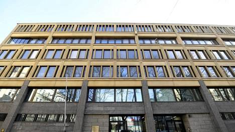 Sisäministeriön rakennus Helsingissä 25. maaliskuuta 2021.