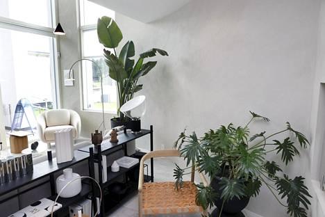 Hevi Kivitalo Lumitiikeri on messukohde numero 7. Olohuoneen seinän kaari tuo mielenkiintoa kokonaisuuteen. Pyöreät muodot ja mustat kontrastit henkivät myös japanilaisuutta.
