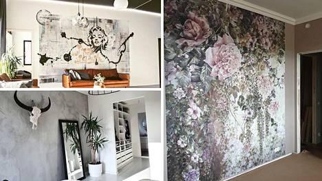 Suomalaiset esittelevät kotiensa tehosteseinät. Ammattilaisen mukaan isommassa tilassa toimivat myös toisistaan poikkeavat värit.