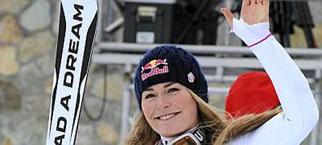 Lindsey Vonn johtaa tällä hetkellä alppihiihdon maailmancupin kokonaistilannetta.