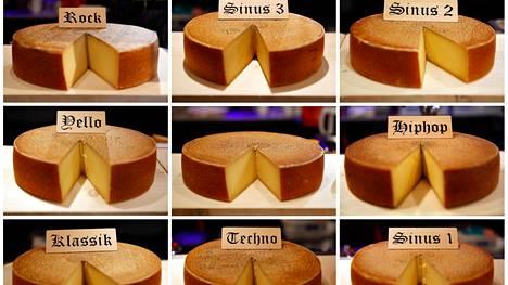 Sveitsiläisten epätieteellisessä kokeessa juustoille soitettiin muun muassa teknoa ja rockia.