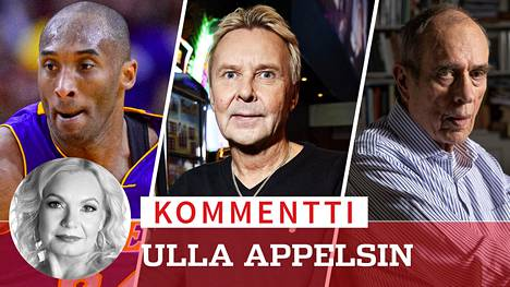 Kobe Bryant (1978–2020), Matti Nykänen (1963–2019), Jörn Donner (1933–2020)