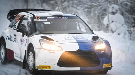 Valtteri Bottas sijoittui Tunturirallissa kuudenneksi.