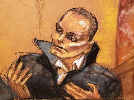 Useita kauneusleikkauksia hankkinut Juan Carlos Ramirez Abadia piirrettynä.