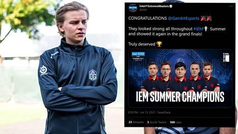 Aleksi Virolaisen OG:n matka IEM Summer -turnauksessa päättyi karuun tappioon finaalissa.