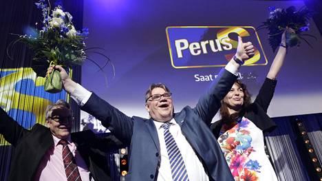 Perussuomalaisista keskusteltiin niin eduskuntavaaleissa 2011 kuin 2015. Kuva perussuomalaisten vaalivalvojaisista 2015.