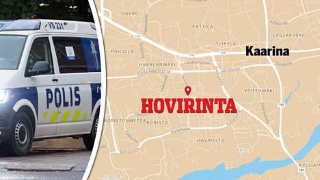 Kaarinan Hovirinnassa järjestettiin perjantai-iltana poliisioperaatio. Tehtävän yhteydessä yksi marokkolainen otettiin kiinni. Kuvituskuva.