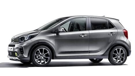Picanto X-Linessa on mustat pyörien kotelot. Autoa voi personoida erilaisilla väripaketeilla.