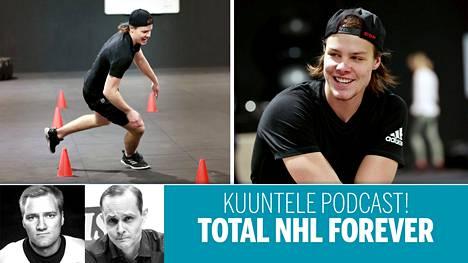 Miro Heiskanen harjoitteli marraskuun lopulla kotikonnuillaan Espoossa tulevaa NHL-kautta varten.