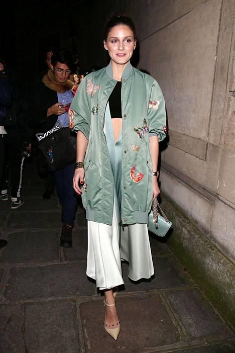 Tyyliguru Olivia Palermo valitsi mintunvihreää.