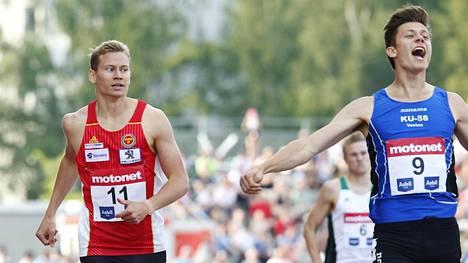 Ville Lampinen (oik.) otti kultaa ennen Oskari Möröä (vas.).