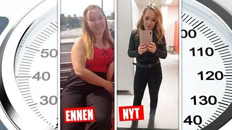 Tamperelainen Jenni laihtui 13 kiloa puolessa vuodessa.