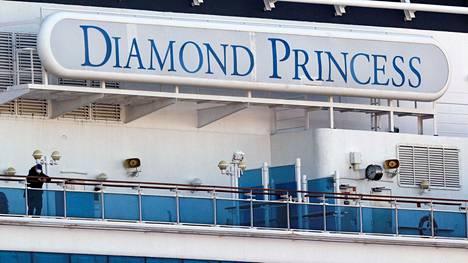 Diamond Princess -alus Jokohaman satamassa 13. helmikuuta 2020.