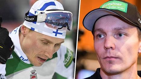 Hannu Manninen (vas.) on lähellä paikkaa Suomen MM-kisajoukkueessa. Päävalmentaja Petter Kukkosen (oik.) mukaan kahdella urheilijalla on vielä sanansa sanottavana.
