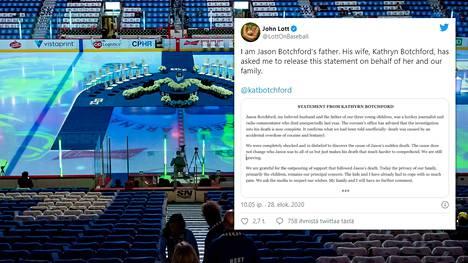 Jason Botchford seurasi työkseen NHL-seura Vancouver Canucksia, joka pelaa kotiottelunsa Rogers Arenalla.